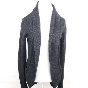 Silence + Noise Gray Open Front Cardigan Sweater